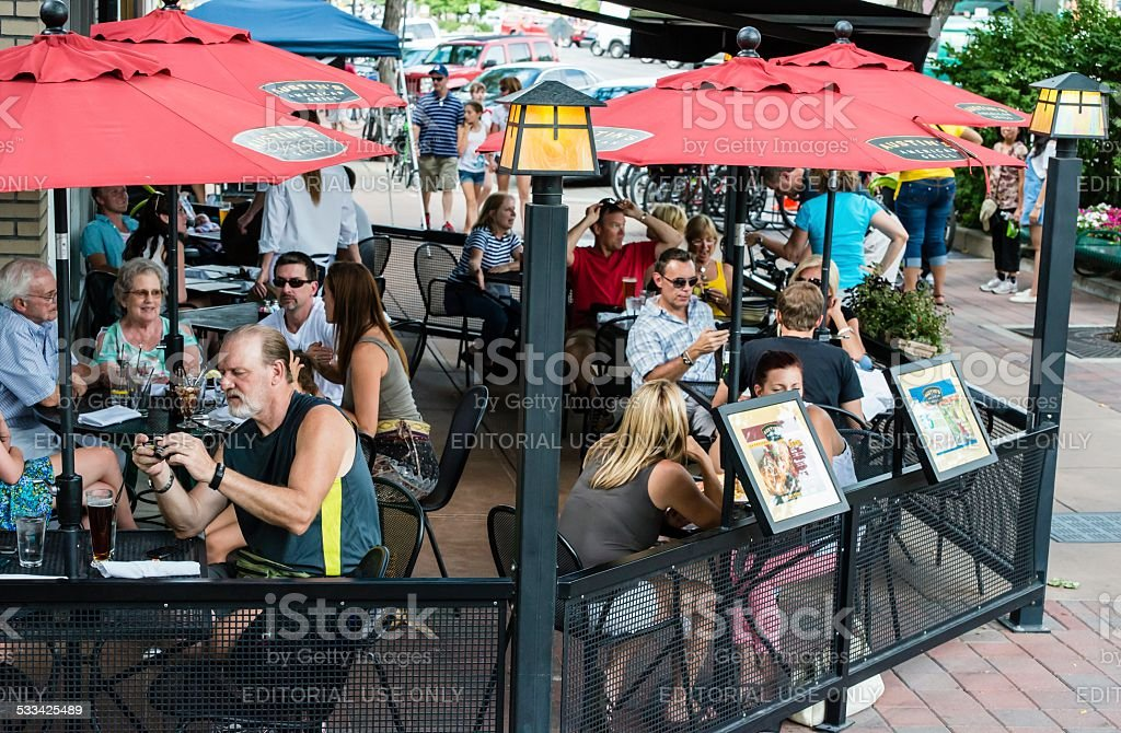Old Town, Fort Collins, Colorado stock photo