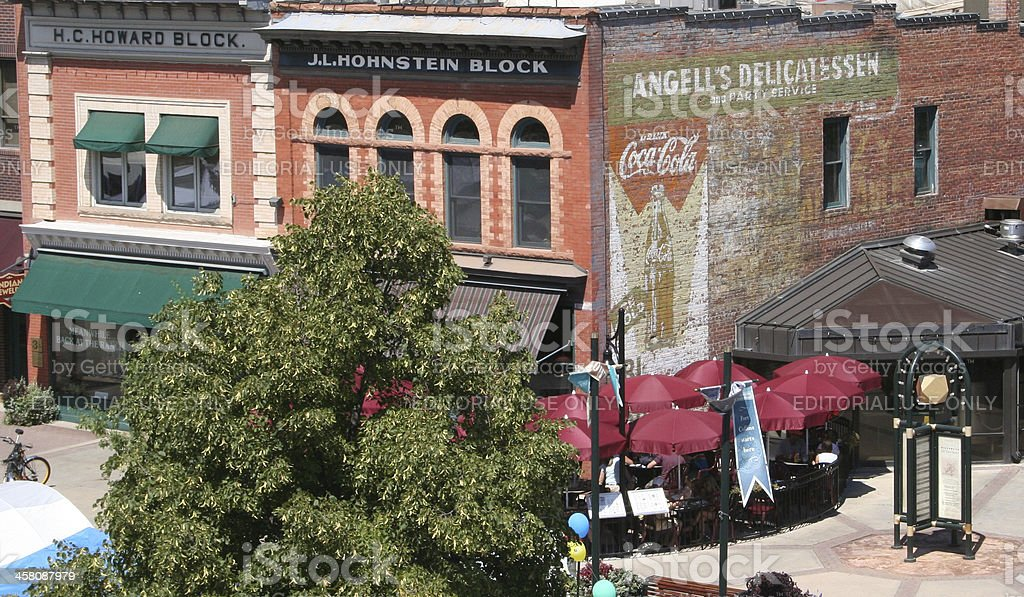 Old Town, Fort Collins stock photo