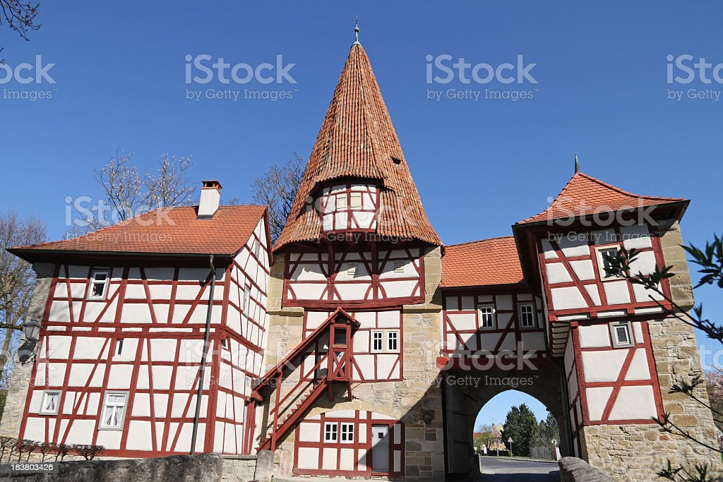 old town gate stock photo