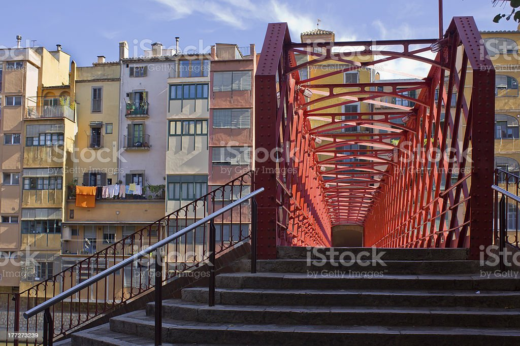 Old town, Girona, Spain royalty-free stock photo