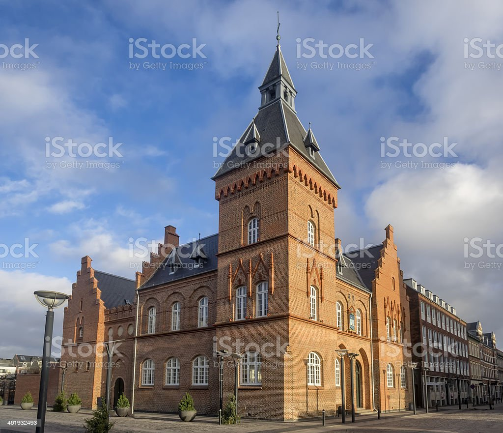 Old town hall and jail in Esbjerg, denmark stock photo