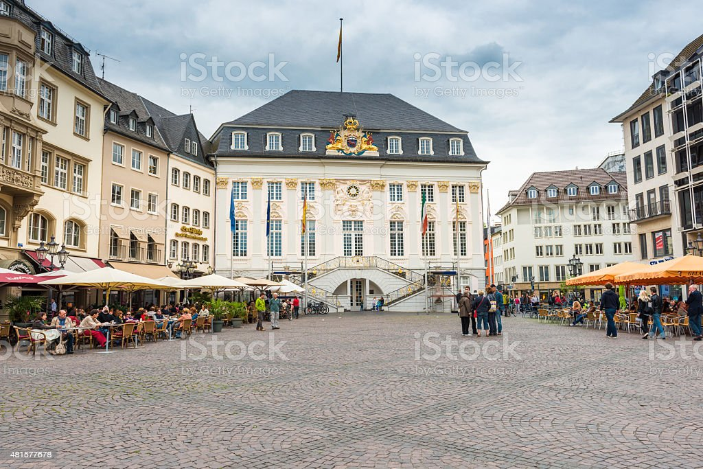 old town hall at Bonn stock photo