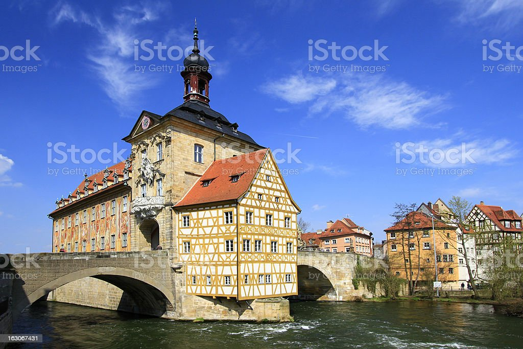 Old Town Hall, Bamberg, Bavaria stock photo