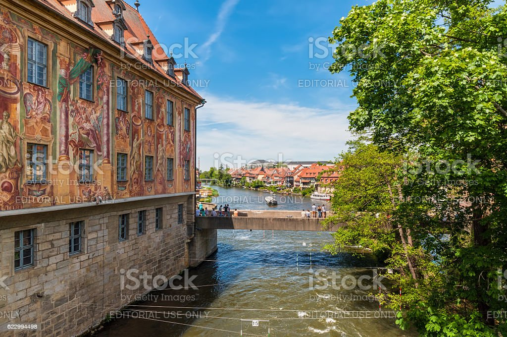 Old Town Hall (1461) in Bamberg, Germany stock photo