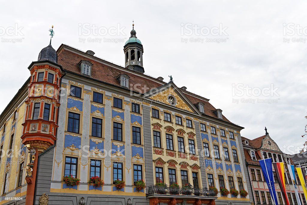 old town hall in Coburg stock photo