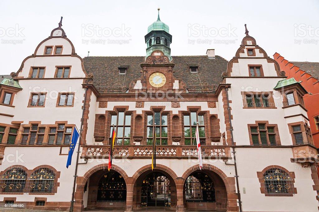 Old Town Hall (Altes Rathaus) in Freiburg im Breisgau, Germany stock photo
