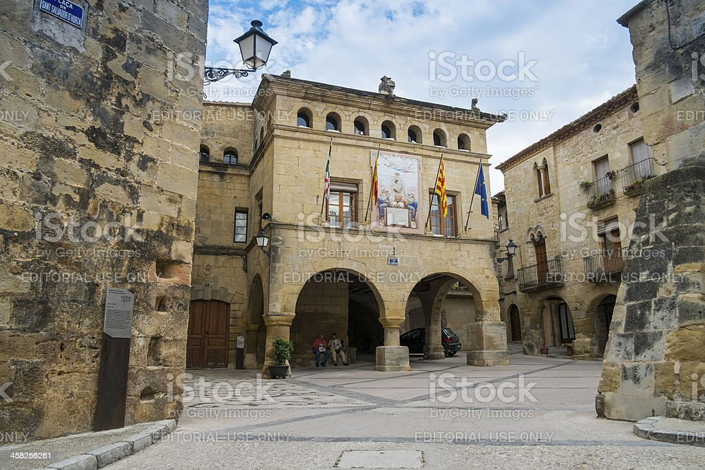 Old town hall in Tarragona royalty-free stock photo