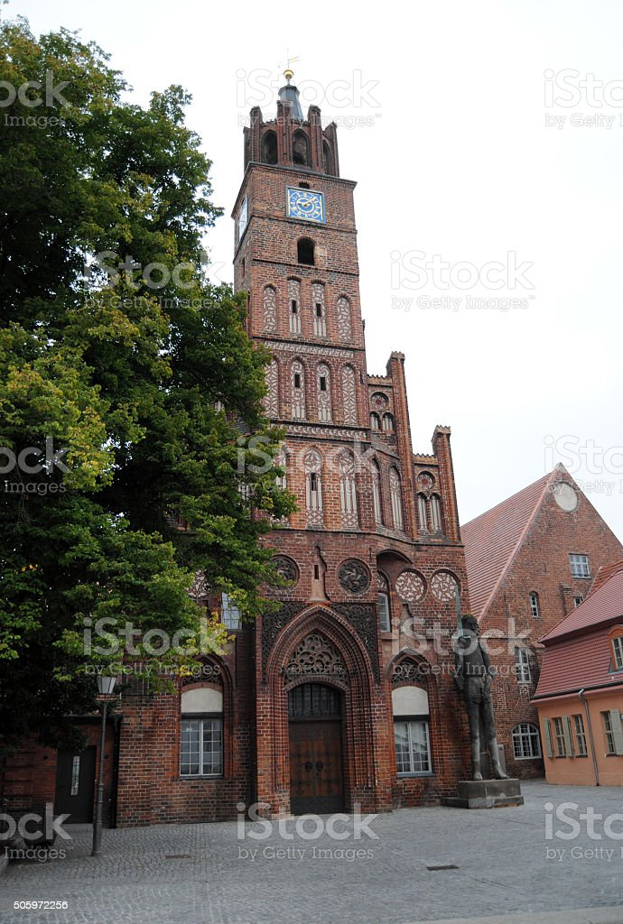 old town hall of Brandenburg an der Havel (Germany) stock photo