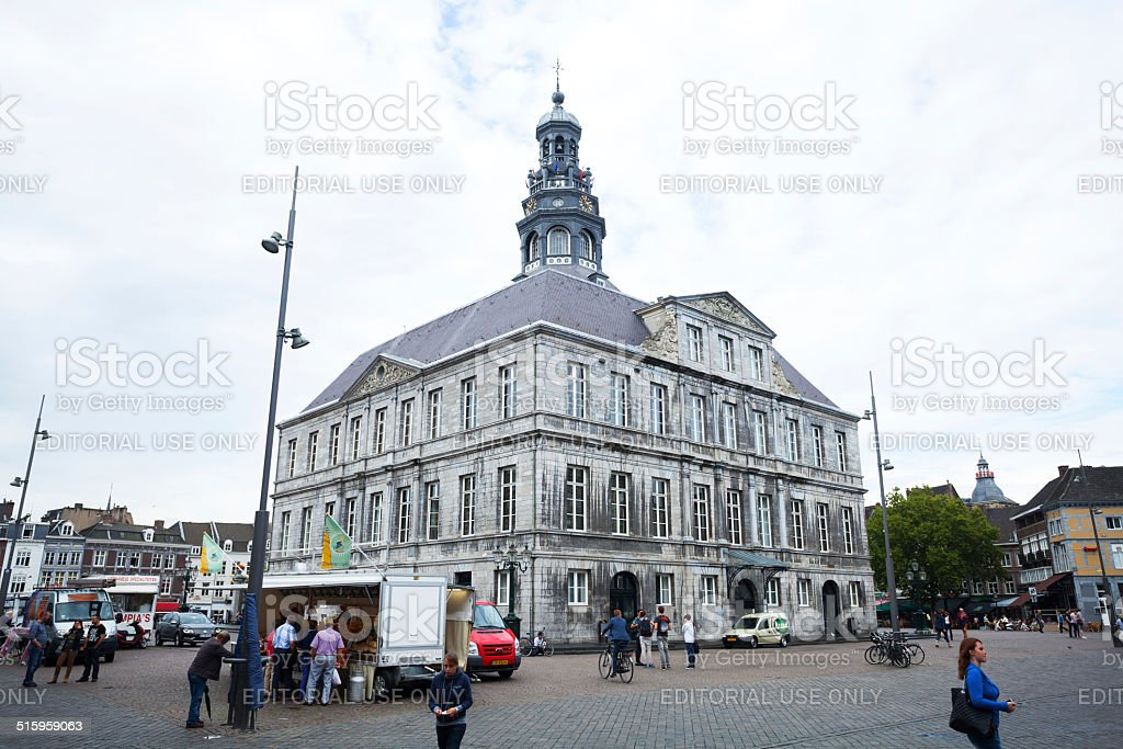 Old town hall of Maastricht stock photo