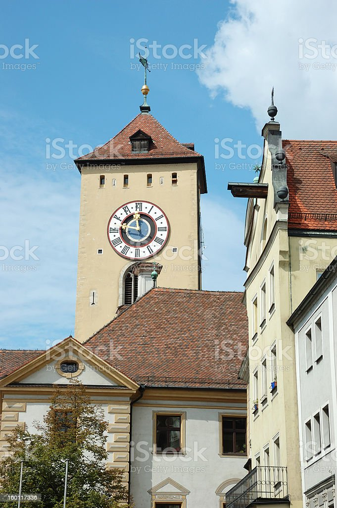 Old town hall of Regensburg,Germany,Bavaria,unesco heritage site royalty-free stock photo