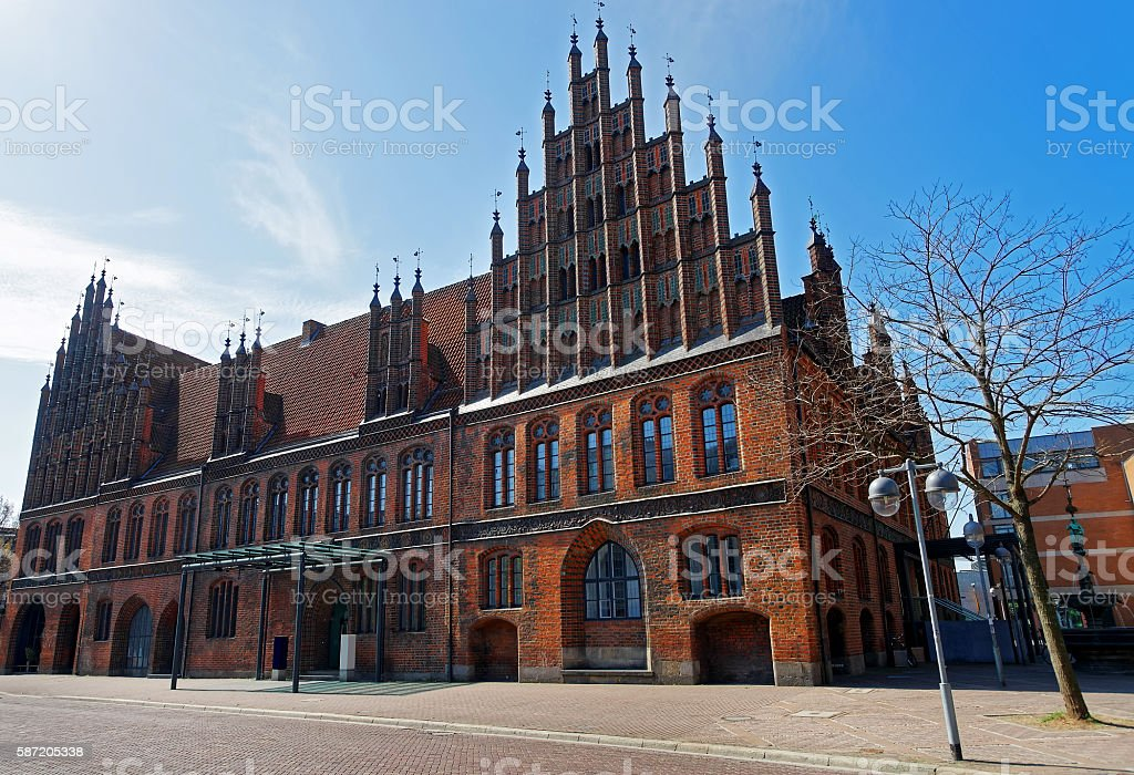 Old Town Hall on Market Square in Hanover in Germany stock photo