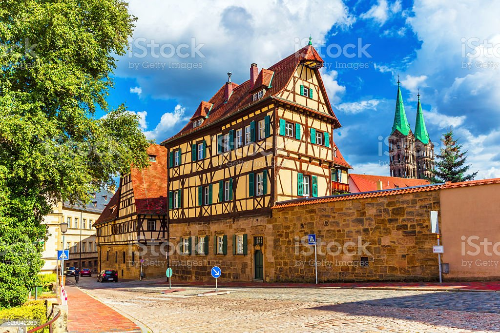 Old Town in Bamberg, Germany stock photo