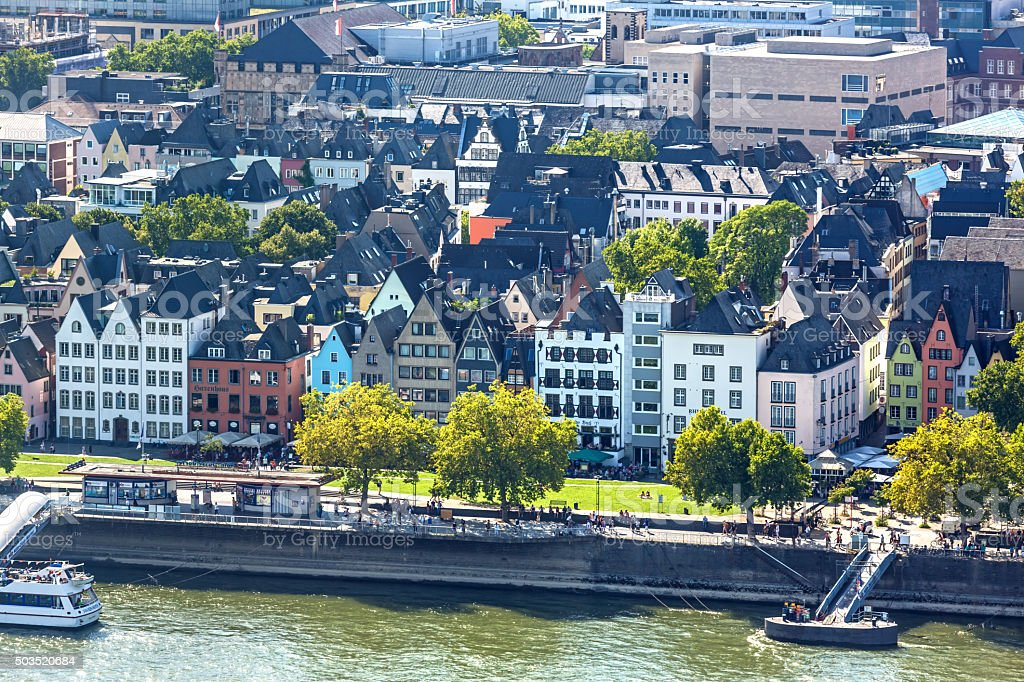 Old Town in Cologne stock photo