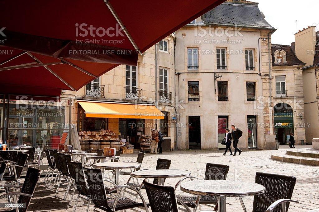 Old Town in Dijon, France stock photo