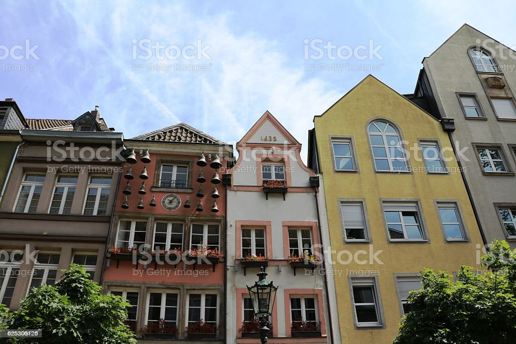 Old Town in Düsseldorf, Germany stock photo