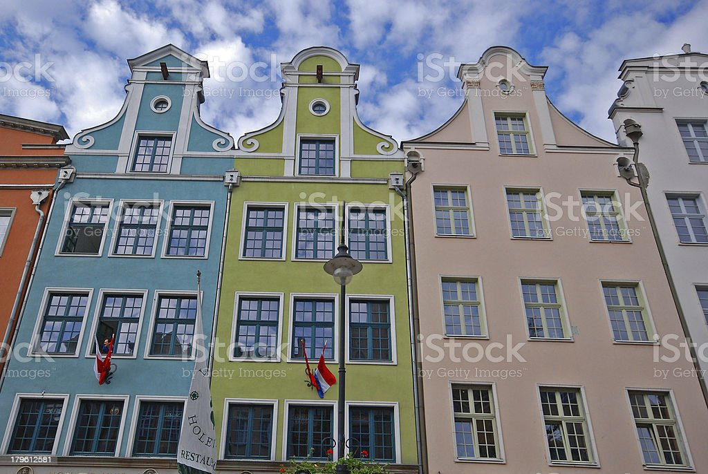 Old Town in Gdansk, Long Street, Poland stock photo