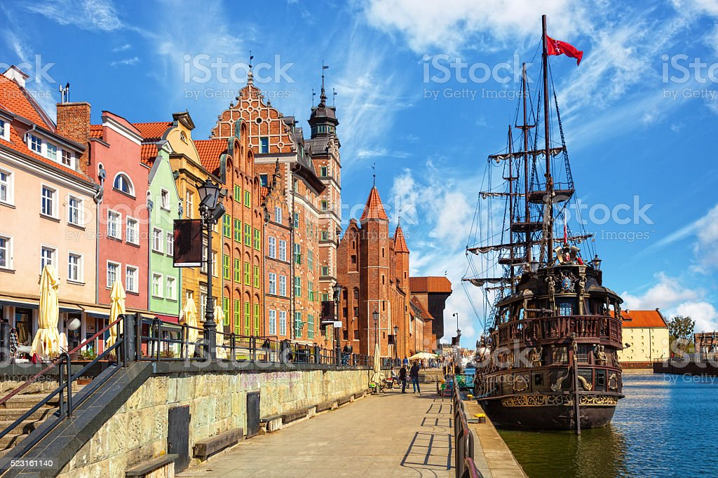 Old Town in Gdansk stock photo