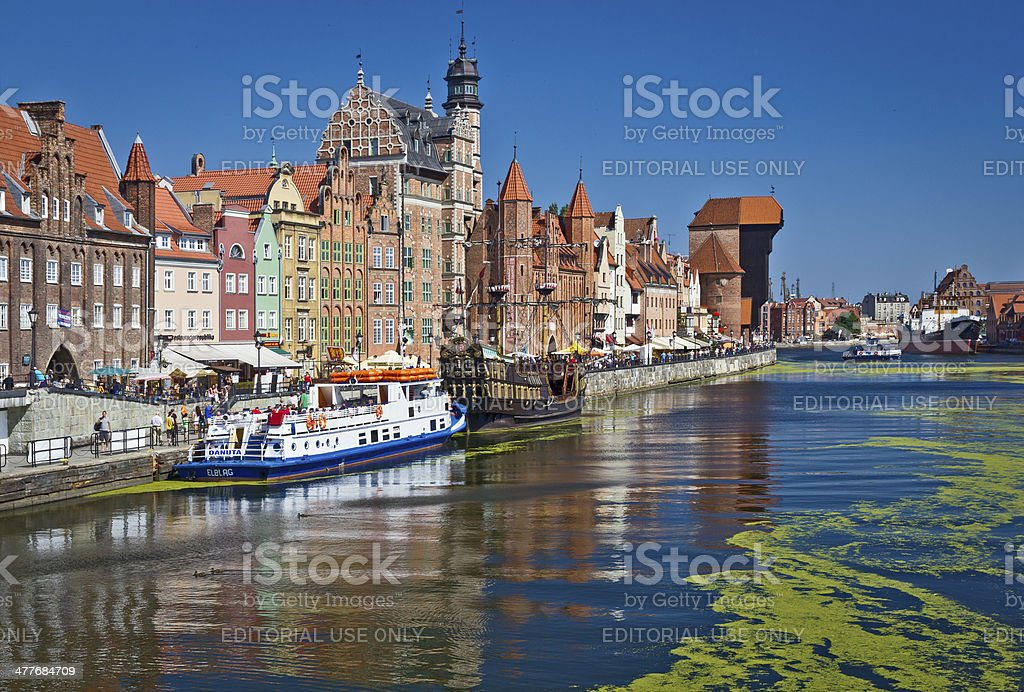 Old Town in Gdansk, Poland royalty-free stock photo
