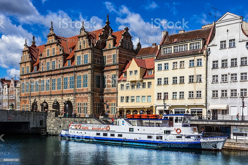 Old Town in Gdansk, Poland stock photo