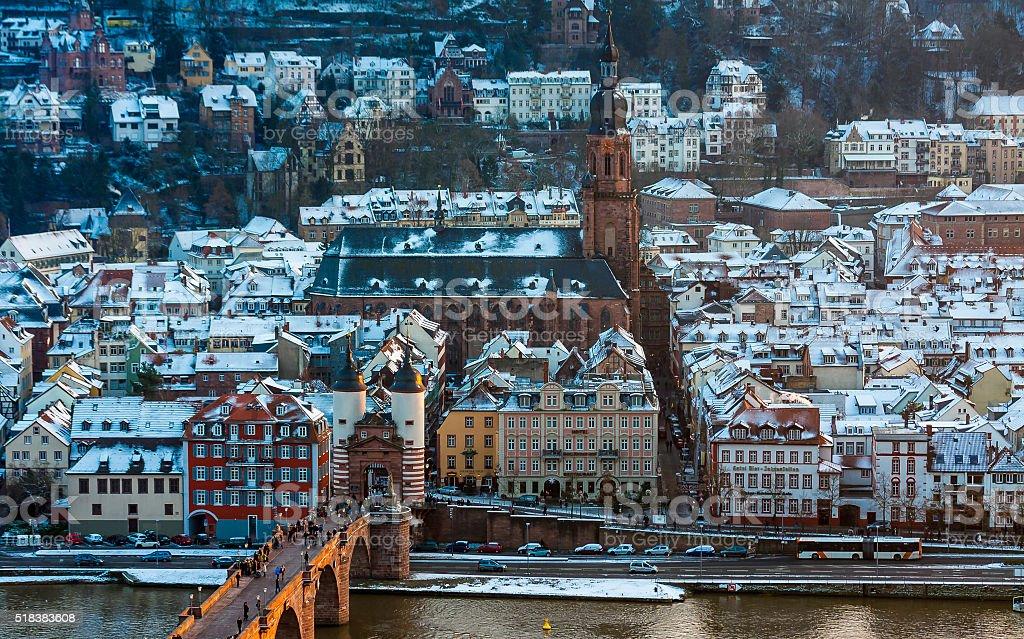 Old town in Heidelberg, Germany stock photo