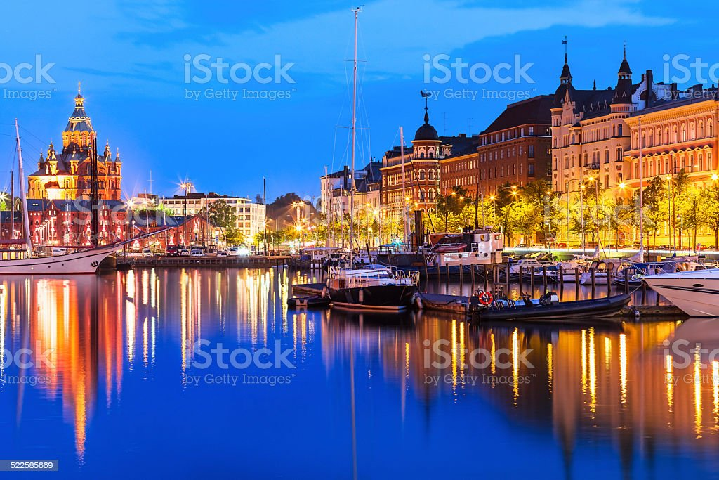 Old Town in Helsinki, Finland stock photo