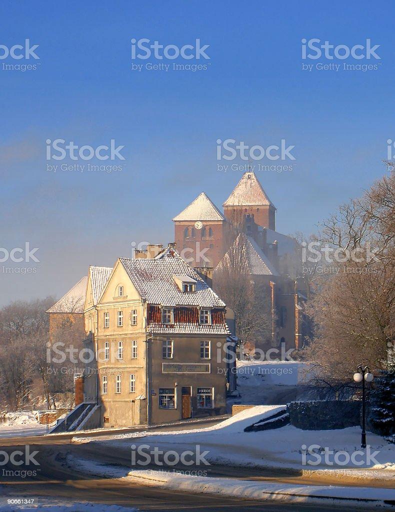 old town in Ketrzyn stock photo