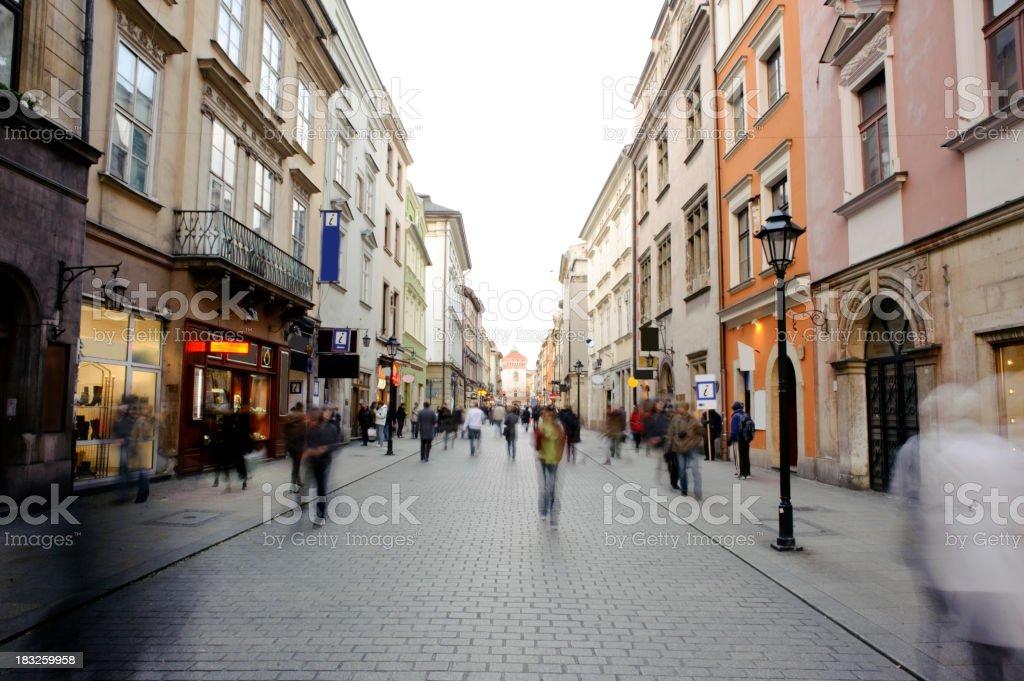 Old Town in Kraków, Florianska street royalty-free stock photo