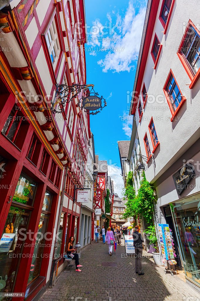 old town in Limburg an der Lahn, Germany stock photo