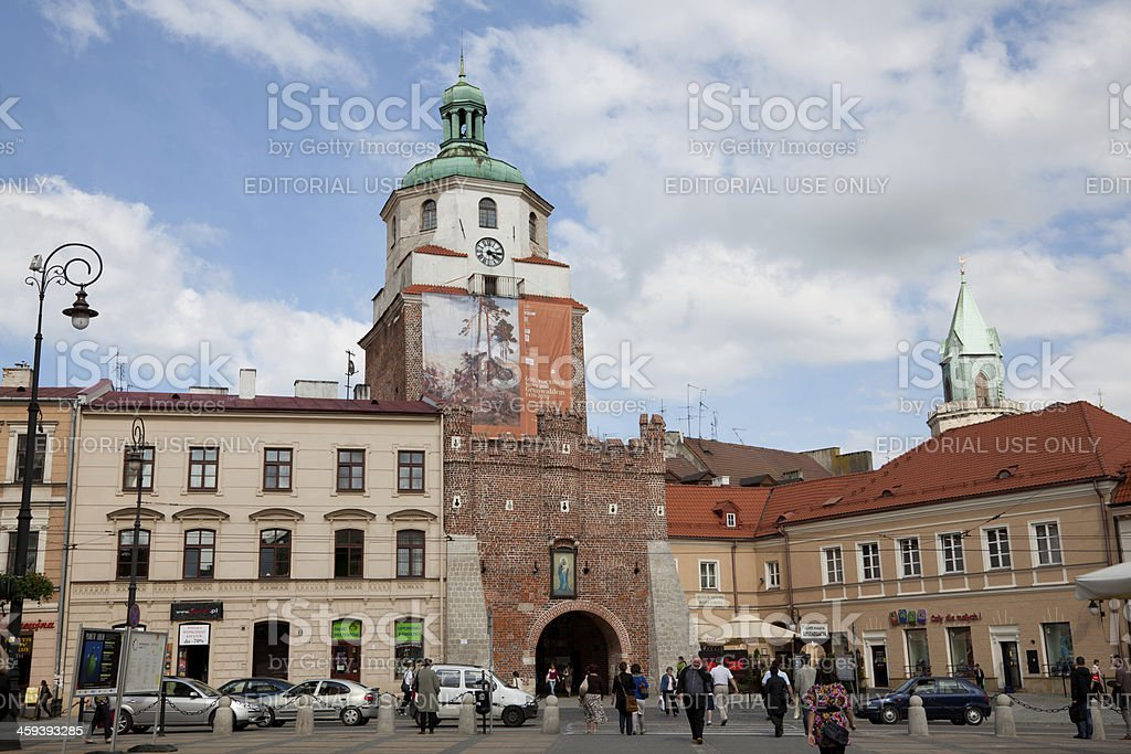 Old town in Lublin Poland Eastern Europe stock photo