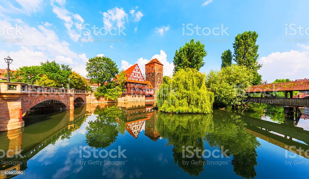 Old Town in Nuremberg, Germany stock photo