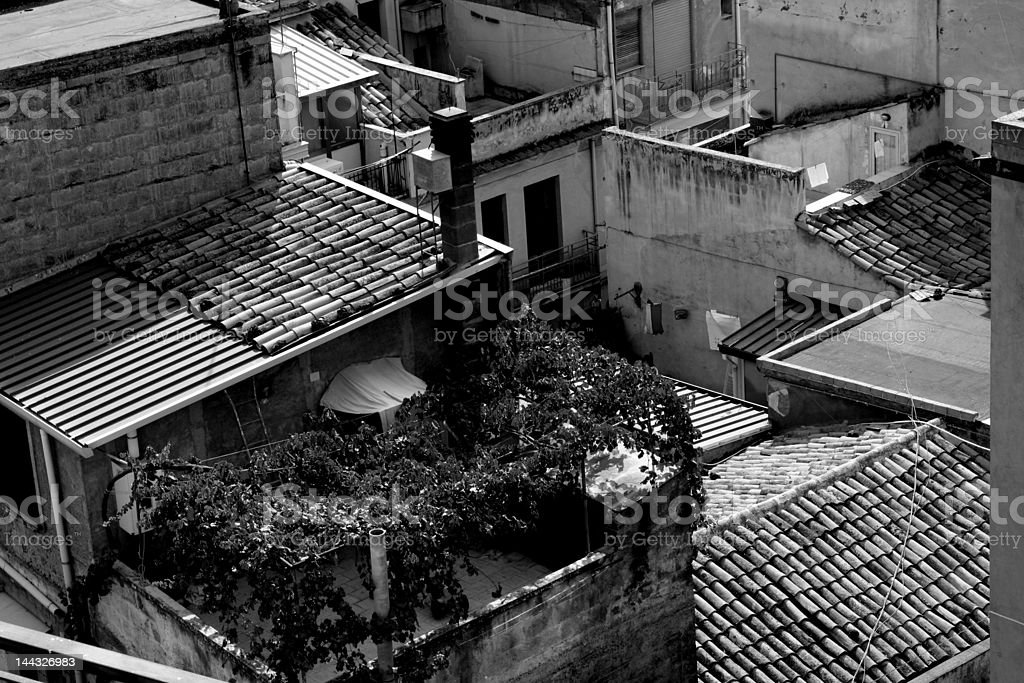 Old town in Sicily at summer royalty-free stock photo