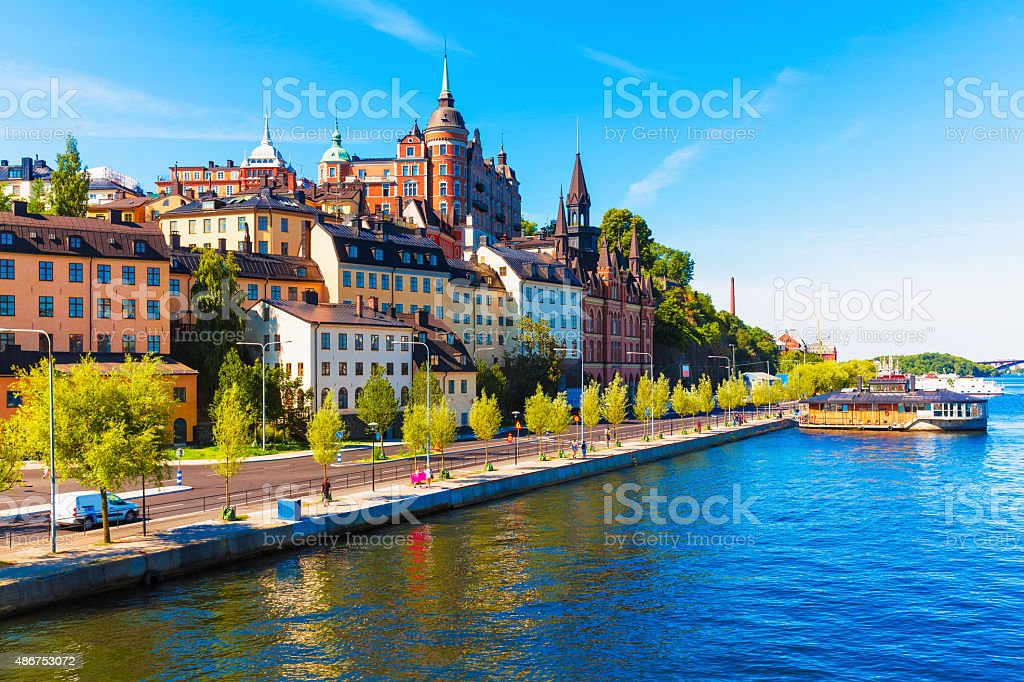 Old Town in Stockholm, Sweden stock photo