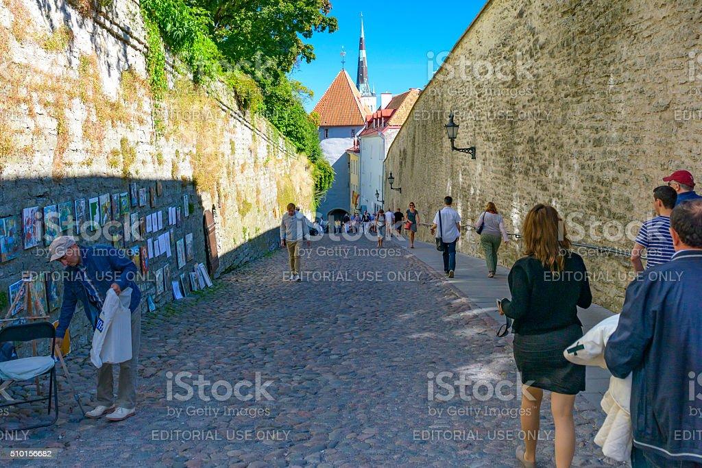 Old Town in Tallinn stock photo