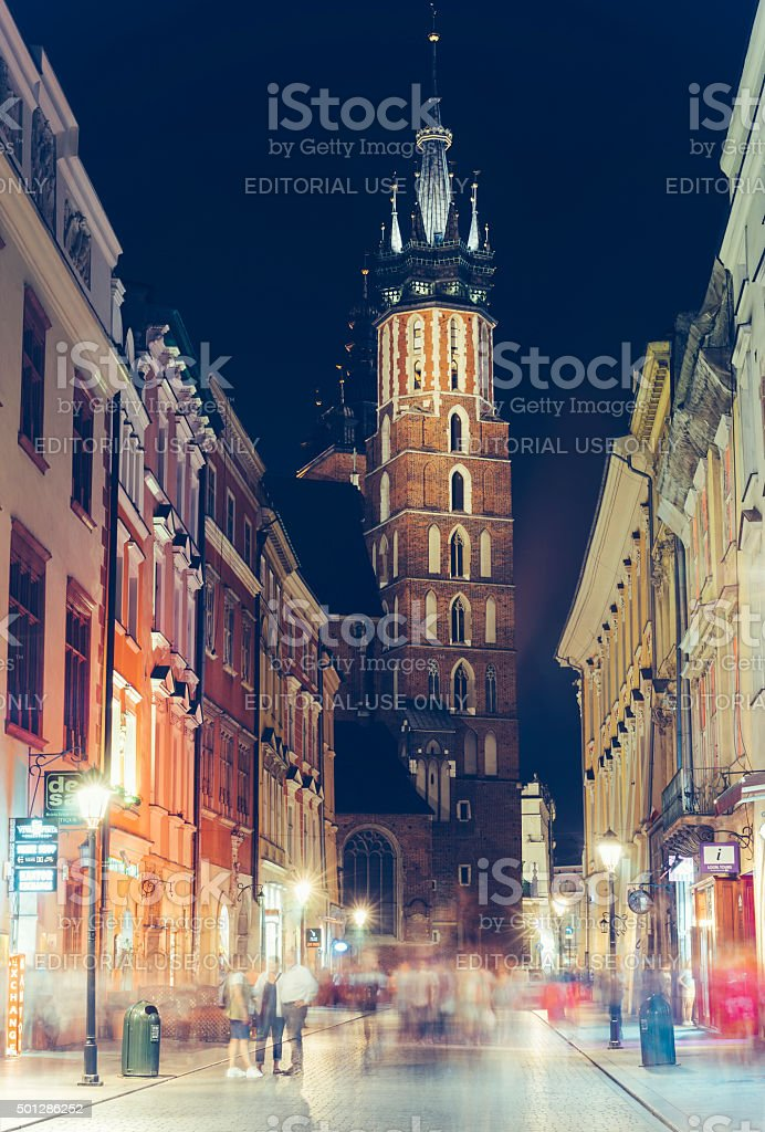 Old Town in the evening, Krakow stock photo