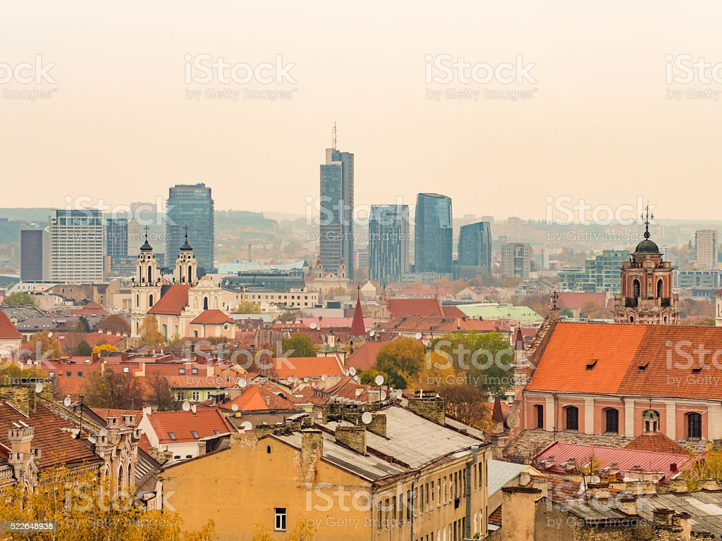 Old Town in Vilnius, Lithuania stock photo