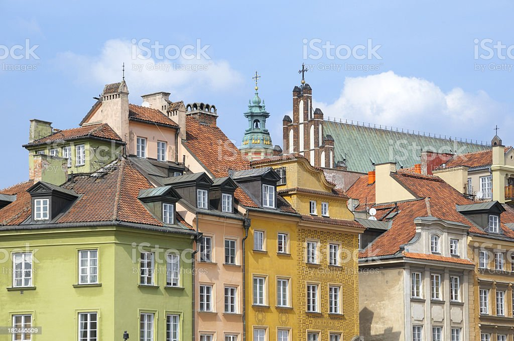 Old Town in Warsaw royalty-free stock photo