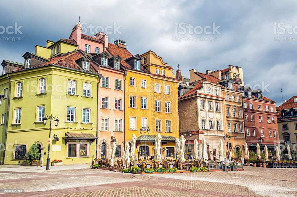Old Town in Warsaw stock photo