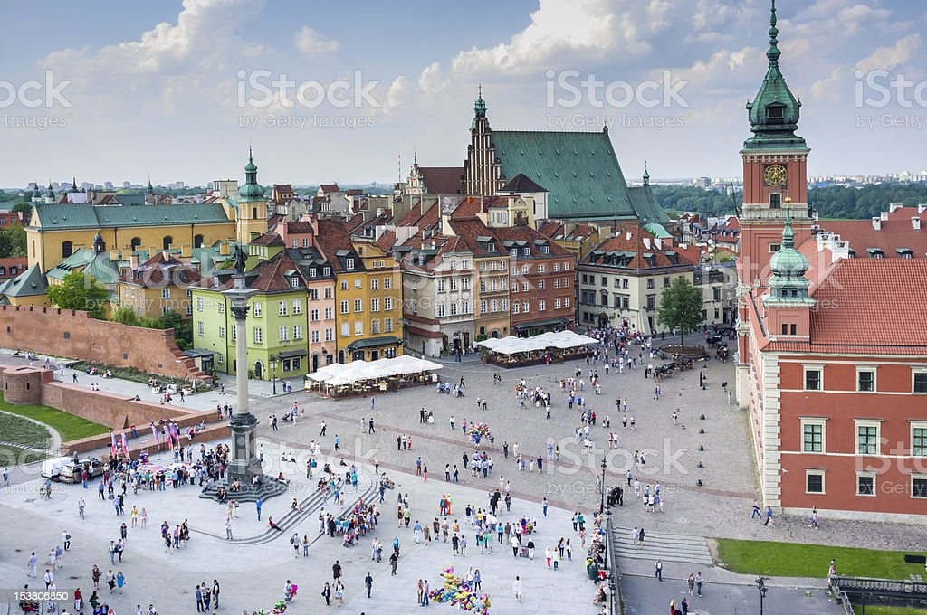 Old Town in Warsaw, Poland - panoramic view stock photo