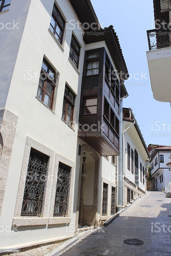 Old Town - Kaleici Buildings stock photo