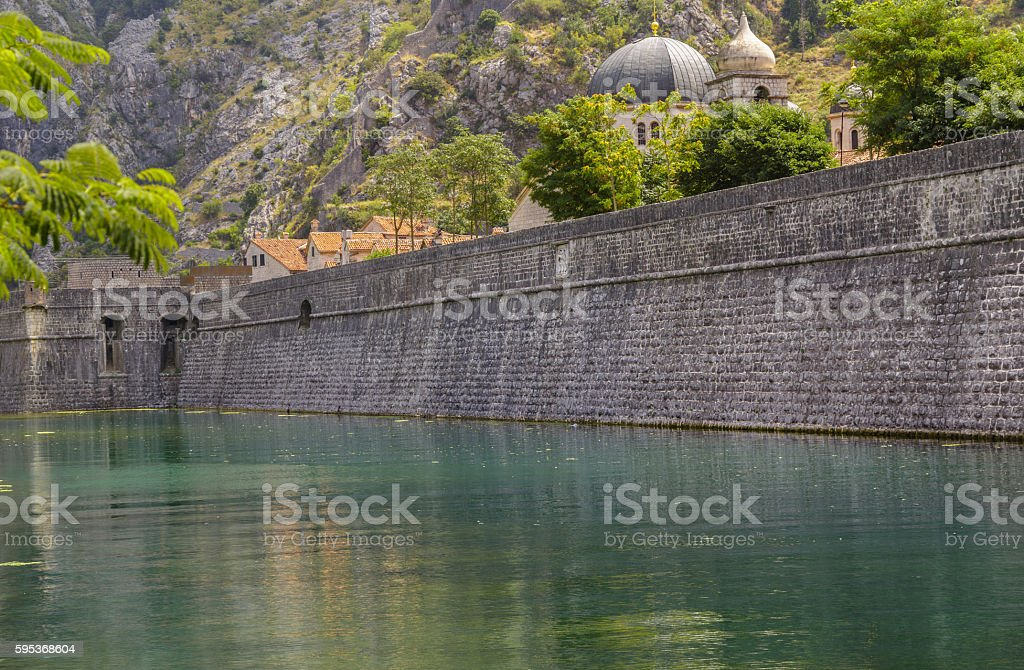 Old town Kotor stock photo