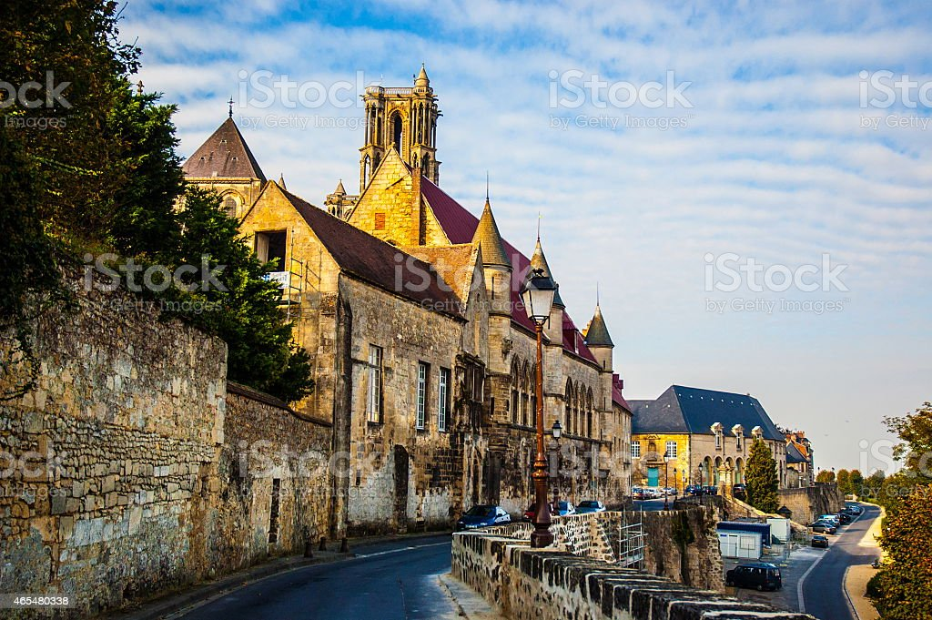 Old town Laon stock photo