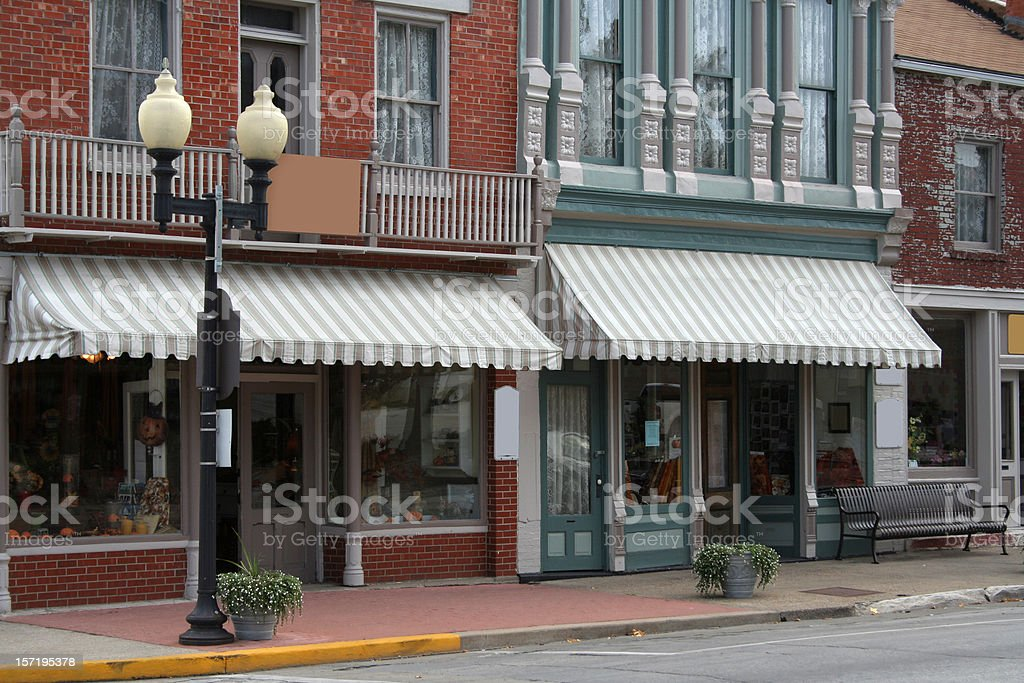 Old Town Main Street stock photo