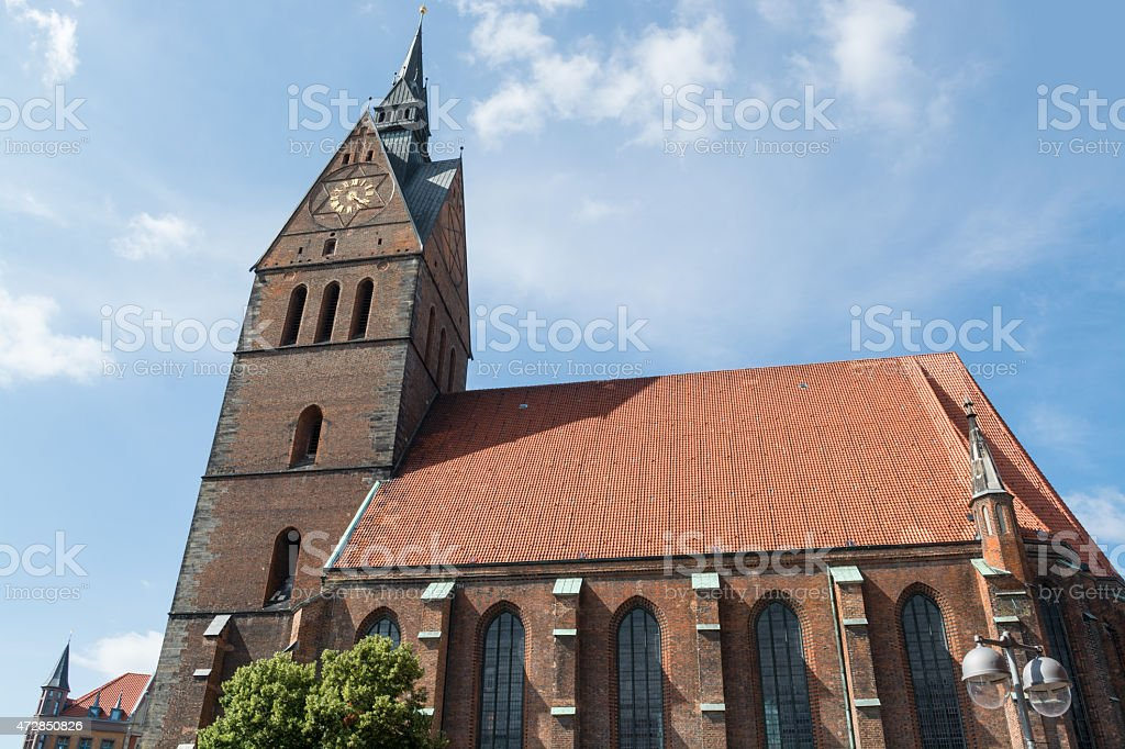 Old town market church, Hannover, Lower Saxony, Germany stock photo