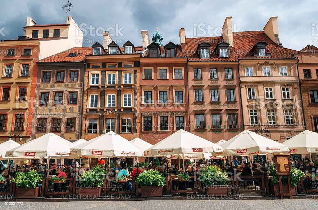 Old town Market square in Warsaw, Poland стоковое фото
