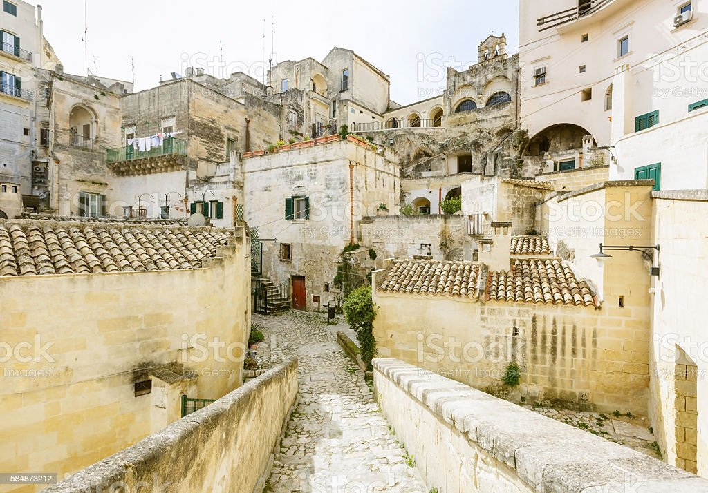 Old town Matera stock photo