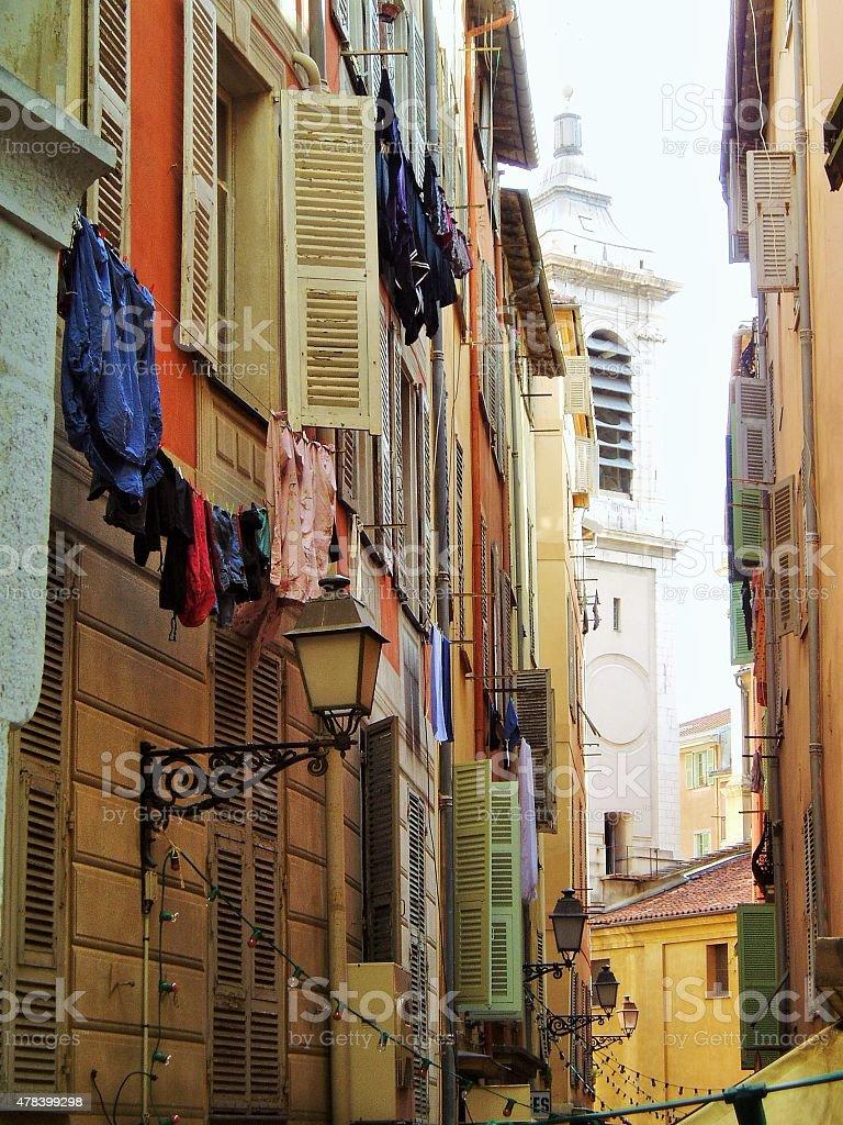 Starym mieście Nicea, Francja zbiór zdjęć royalty-free