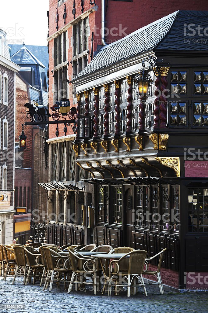 old town of Aachen stock photo