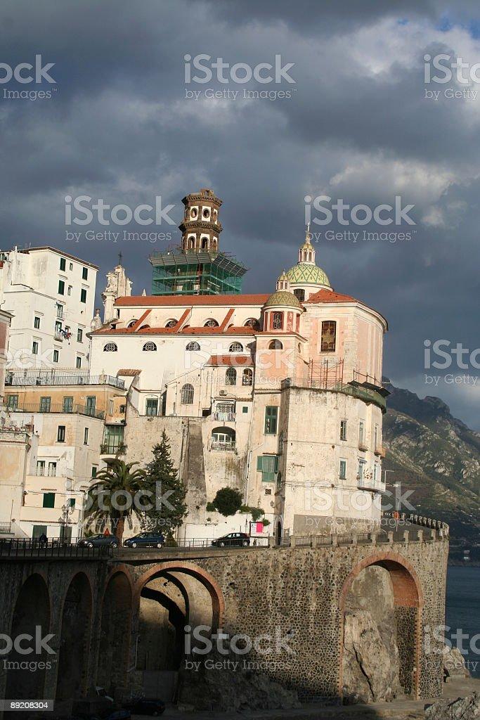 Old town of Atrani, Amalfi Coast royalty-free stock photo