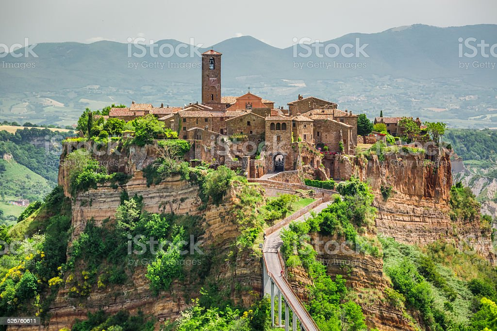 Old town of Bagnoregio stock photo