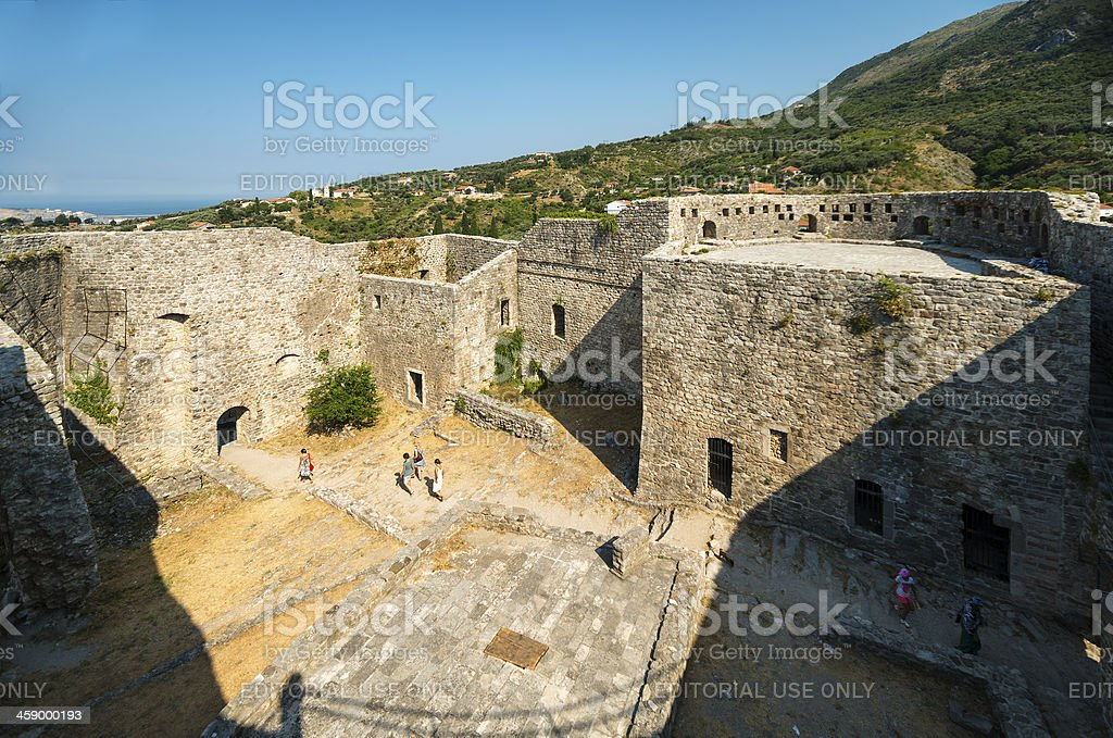 Old town of Bar, inside the Fortress stock photo